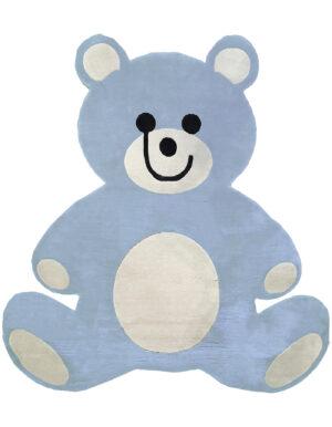 Light blue carpet bear shape made