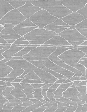 Grey carpet with Berber style made of random lines