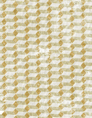 Geometric rug in golden brown, greige and natural white