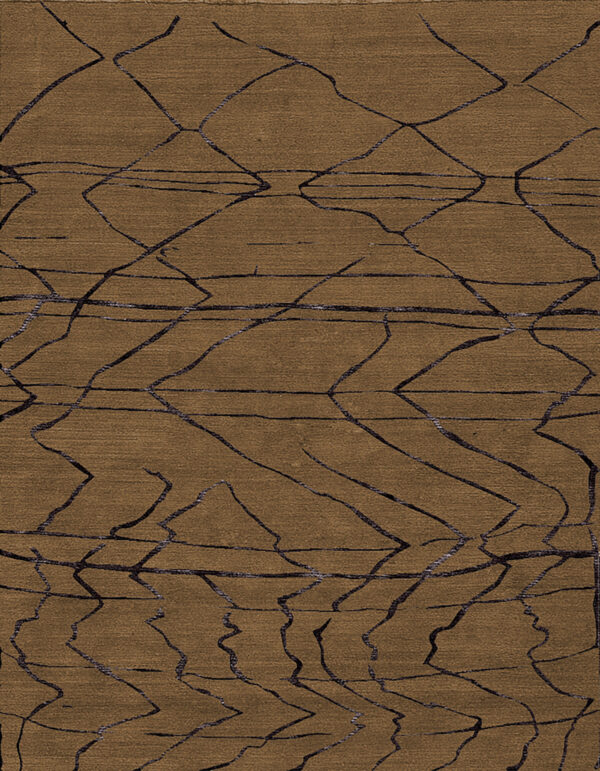 Brown carpet with Berber style made of random lines