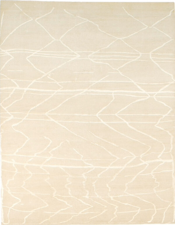Beige carpet with Berber style made of random lines